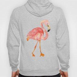 Pink Watercolor Flamingo Hoody