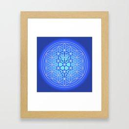 Flower of Life - Throat Framed Art Print