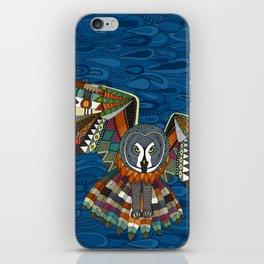 night owl blue iPhone Skin