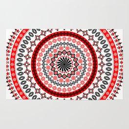 Mandala Romanian traditional symbols Rug