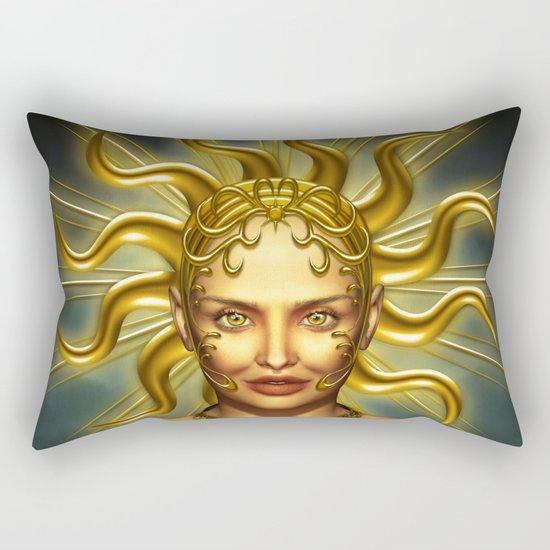 Beautiful golden sun goddess Rectangular Pillow