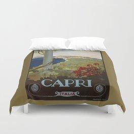 Isle of Capri Italian travel ad Duvet Cover
