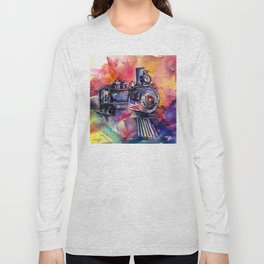 American Train by Kathy Morton Stanion Long Sleeve T-shirt