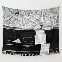 piano Wall Tapestries featuring Piano  by Rachel von Hahn