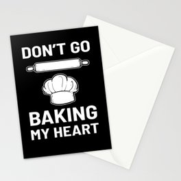 Baking My Heart Baker Pastry Chef Baking Gift Idea Stationery Cards