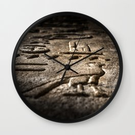 Egyptian hyeroglyphic Wall Clock