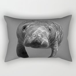 Little Manatee B&W Rectangular Pillow