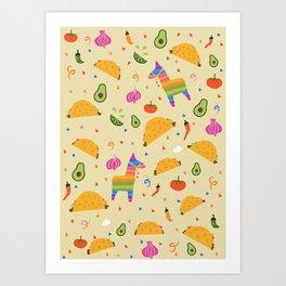 Taco Fiesta Art Print
