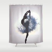 dancer Shower Curtains featuring Dancer by Judy Hung