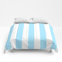 Fresh Air heavenly -  solid color - white vertical lines pattern Comforters