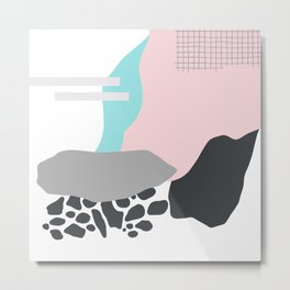 Abstract Pink Metal Print