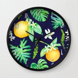 Citrus Tropics - Midnight Wall Clock