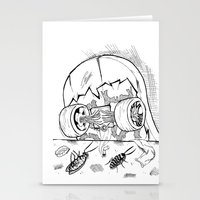 """skate Stationery Cards featuring """"Skate"""" by Jorge Daszkal"""