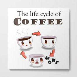Life cycle of coffee Metal Print