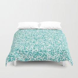 Tiny Spots - White and Verdigris Duvet Cover