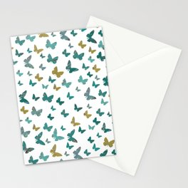 butterflies_yellow Stationery Cards