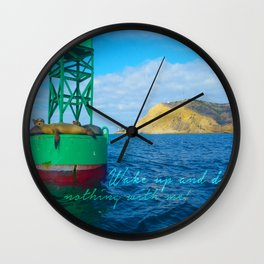 California Getaway Wall Clock