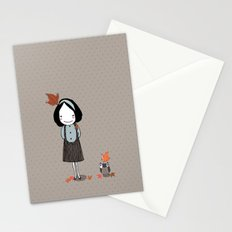 Autumn in my heart Stationery Cards
