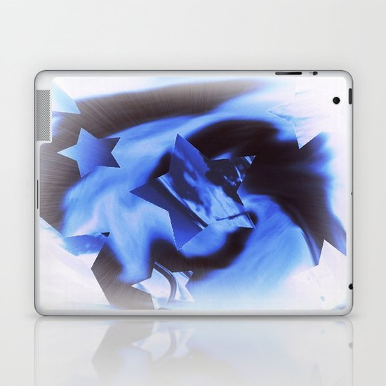 Starburts II cold blue Laptop & iPad Skin