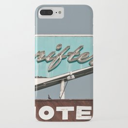 Vintage Neon Sign - The Drifter - Silver City iPhone Case