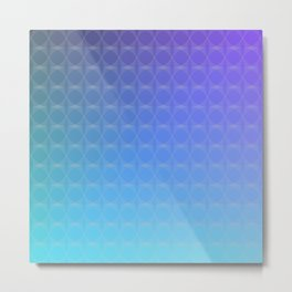 Cyan Blue to Purple Scale Ombre Circle Gradient Metal Print