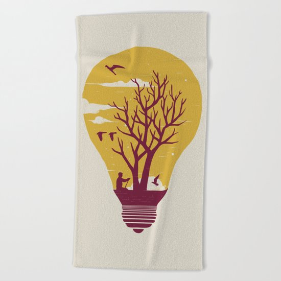 Unwind Beach Towel