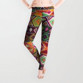 Aztec Artisan Tribal Bright Leggings