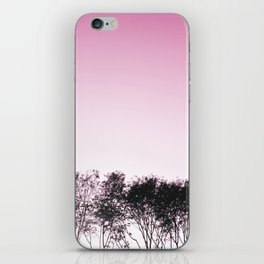 Lovely pink sky iPhone Skin