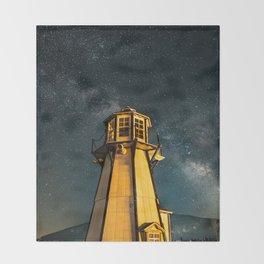 Mountain Light House Two Throw Blanket