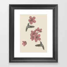 Blossoms & Birds Framed Art Print