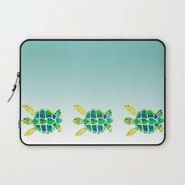 Swimming Baby Sea Turtles Laptop Sleeve