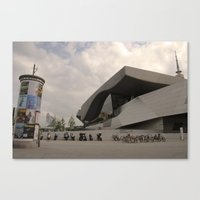 bmw Canvas Prints featuring BMW Headquaters by Darkhorse