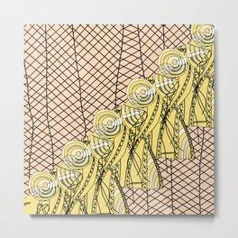 Fishnet Gold Metal Print