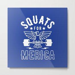 Squats For Merica Metal Print