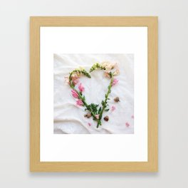 With All My Heart Framed Art Print