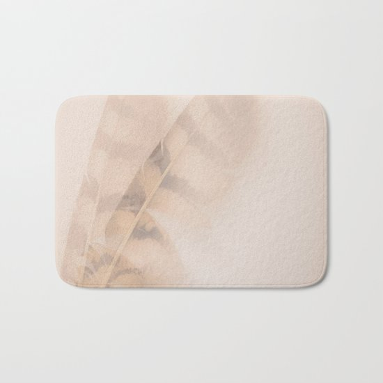 Two feathers on a soft pastel background - beautiful couple Bath Mat