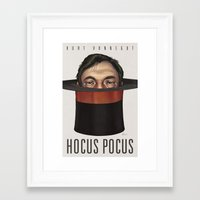 hocus pocus Framed Art Prints featuring Hocus Pocus by Nick Sadek Illustration