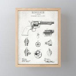 Revolver old patent Framed Mini Art Print