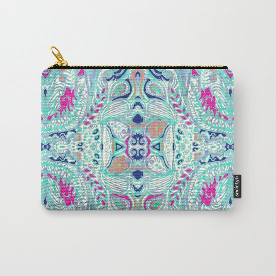 Bright Damask Jungle Carry-All Pouch