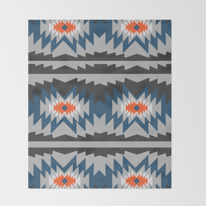 Wintry ethnic pattern Throw Blanket