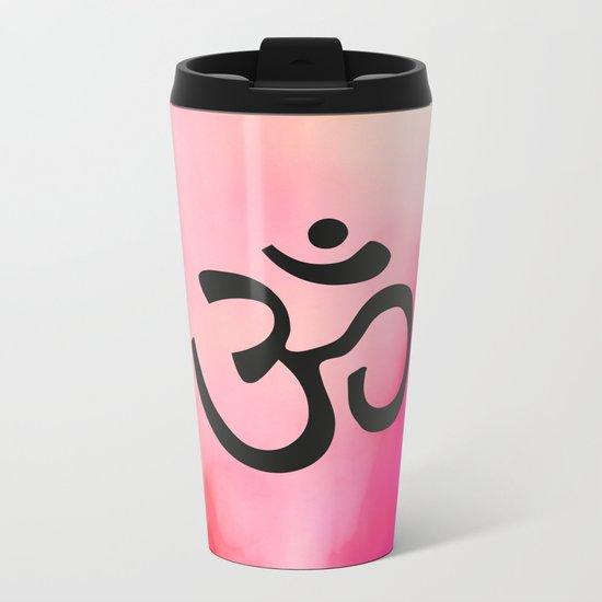 Om Ohm Symbol Metal Travel Mug