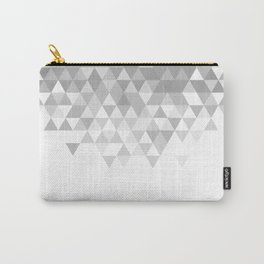 Black And White Triangles Pattern Carry-All Pouch