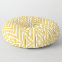 Yellow & White Chevron Pattern  Floor Pillow