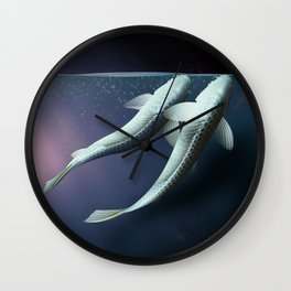The carp's journey 5 Wall Clock