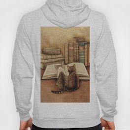 Kittens Reading A Book Hoody