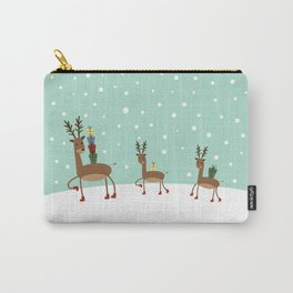 Christmas gifts from the reindeer #society6 #homedecor Carry-All Pouch