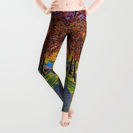 Colors of Autumn by the Lagoon Leggings