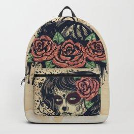 Vintage sugar skull girl Backpack
