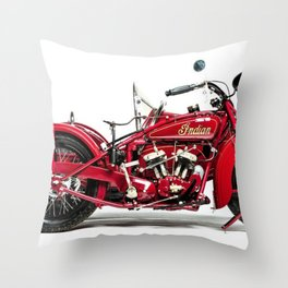 1928 Motorcycle with sidecar Throw Pillow
