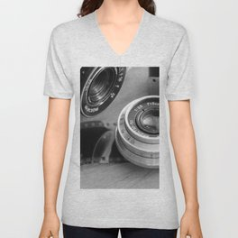 Accessories from old film cameras. Unisex V-Neck
